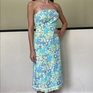 VTG White Label LP Sweet Blue Crabby dress / 0